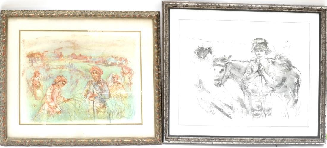 Edna Hibel, Two Agricultural Scenes - Lithographs