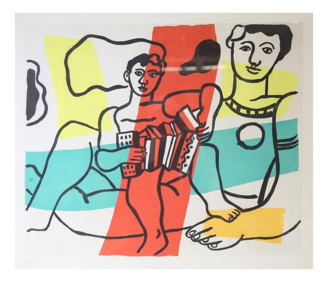 """Fernand Leger, """"L'enfant à l'accordéon"""" -"""