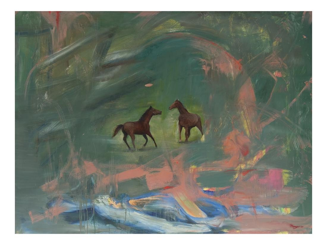 Rob Maneo, Horses - Oil on Canvas