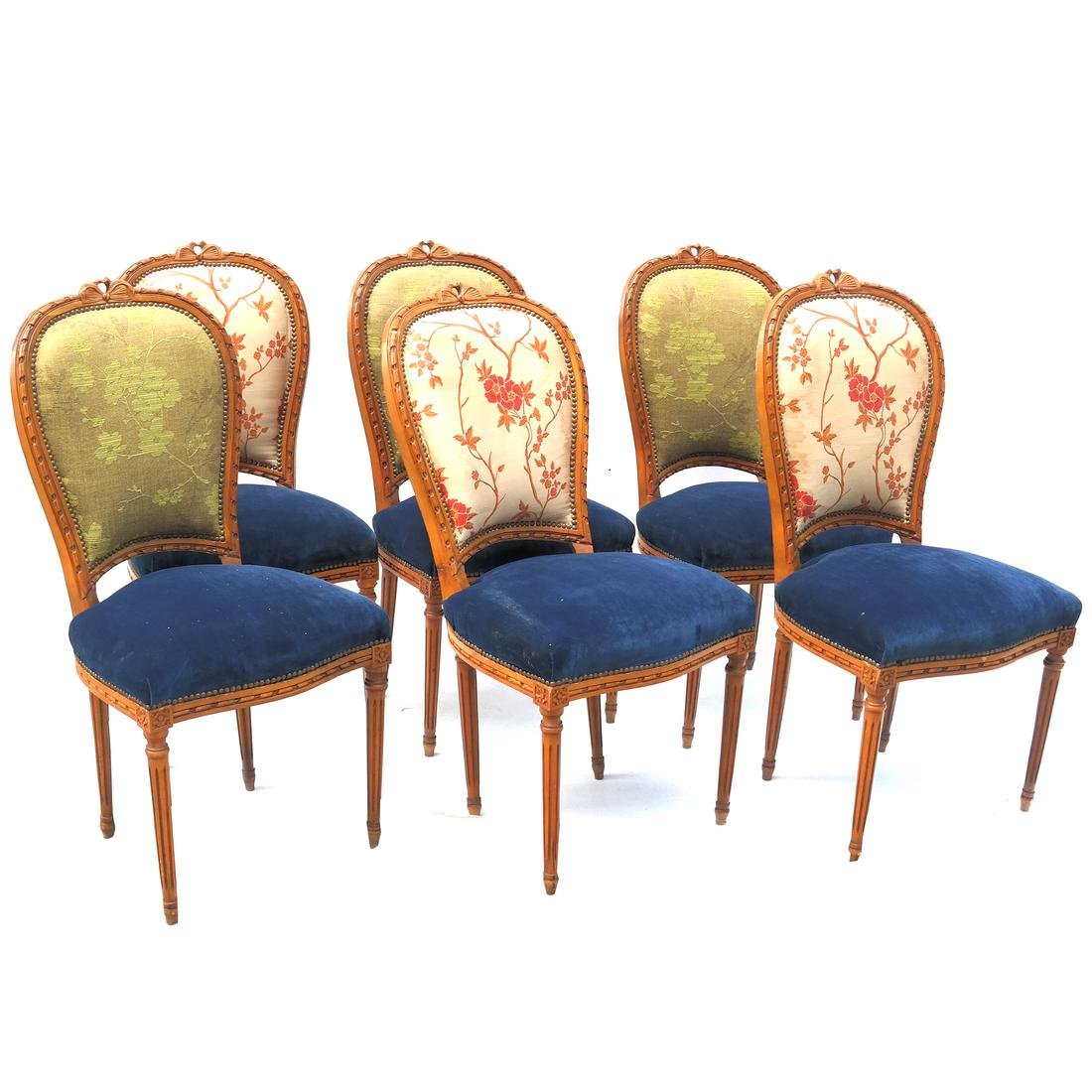 Set of 6 French-Style Side Chairs