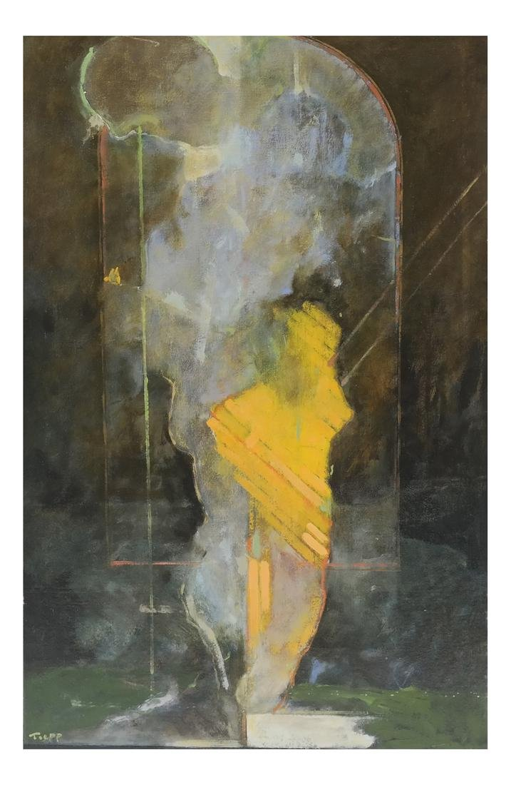 Wayne Toepp (American, 1964-) Figural Abstract O/C