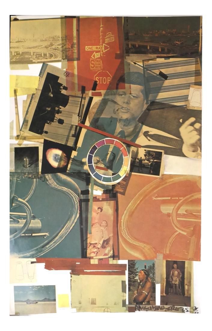 """Robert Rauschenberg, Signed """"Core Poster"""" 1965"""