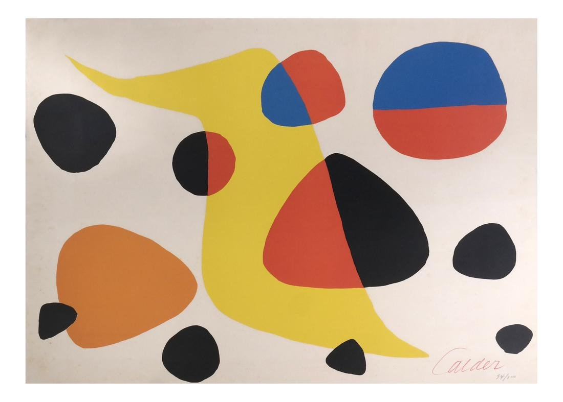Alexander Calder, Untitled (abstract) - Lithograph