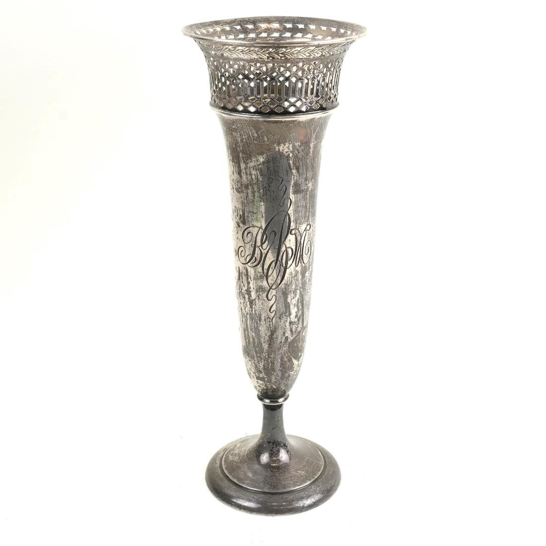 Reed & Barton Sterling Trumpet-Form Vase