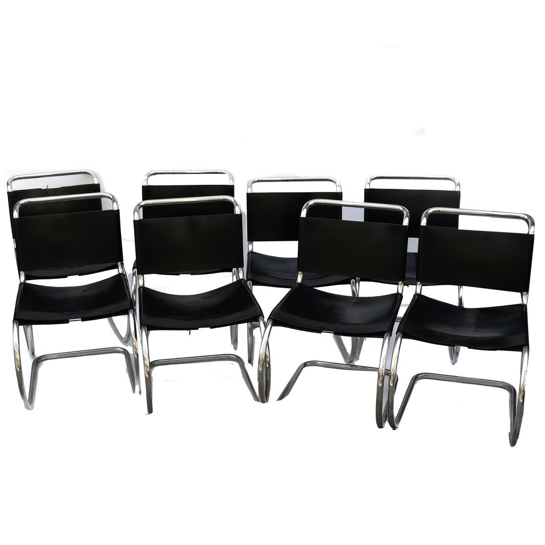 """Set of 9 Mies Van der Rohe """"ME"""" Side Chairs"""
