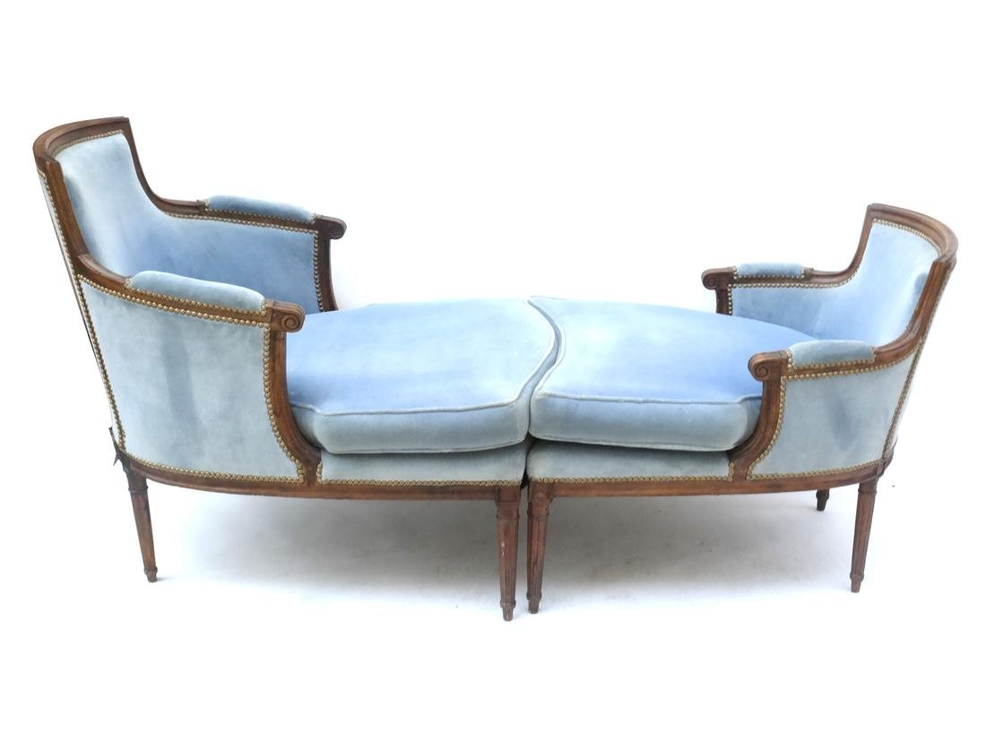 Louis XVI-Style Two-Part Chaise Lounge