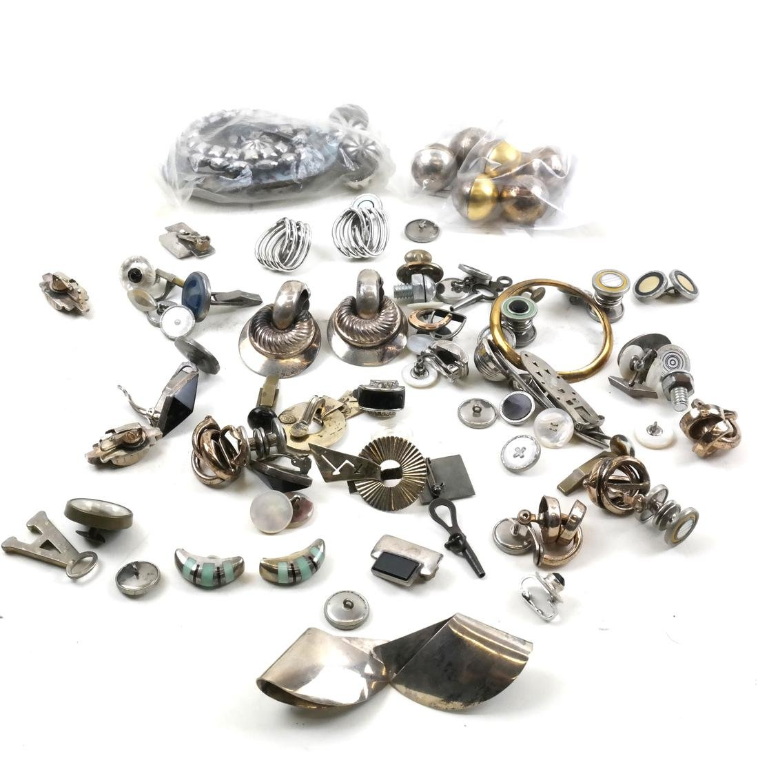 70+ Pieces Costume Jewelry Including Sterling