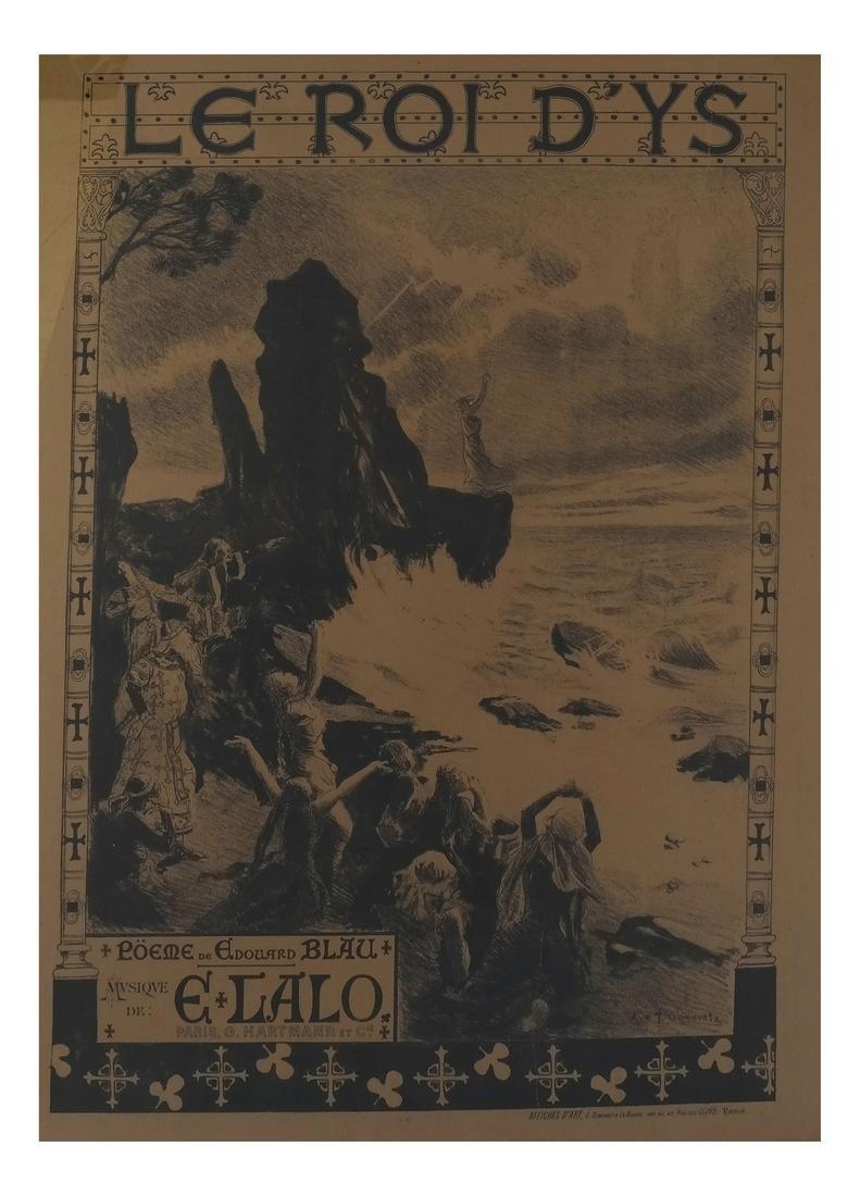 """Francois Gorguet Opera Poster, """"Le Roi D'YS"""""""