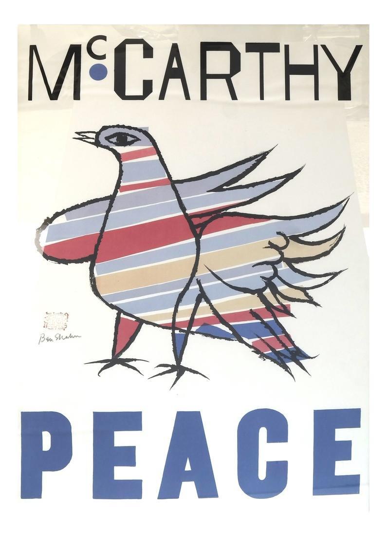 "Ben Shahn, ""McCarthy Peace Poster"", Screen Print"