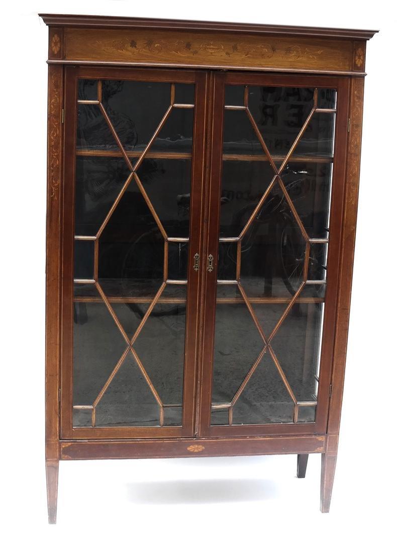 Edwardian Two-Door Bookcase