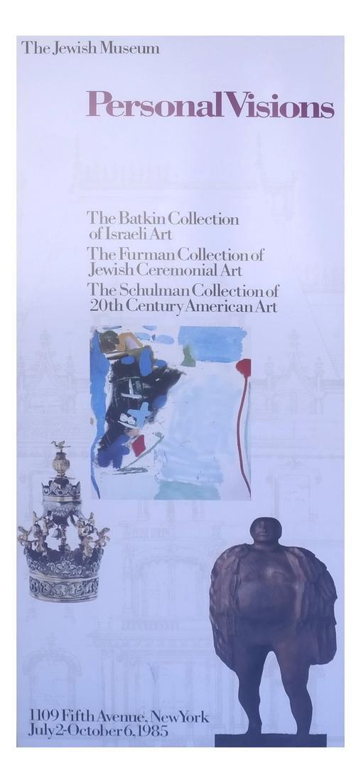 Framed Jewish Museum Poster, Batkin Israeli Collection