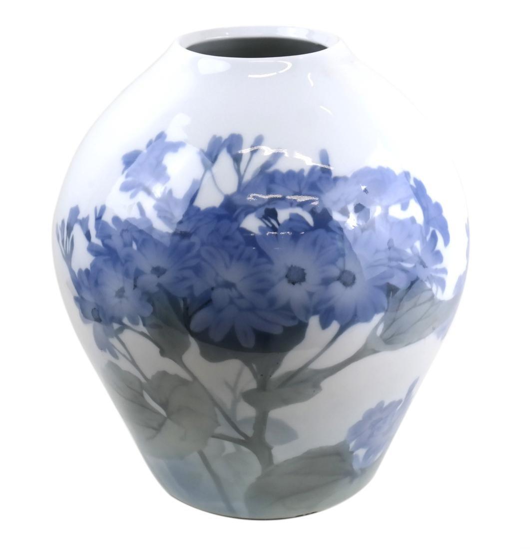 Danish Porcelain Floral Vase