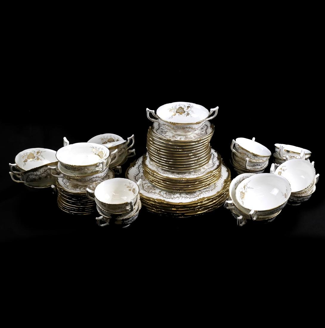 49-Piece Cauldon England Partial Dinnerware