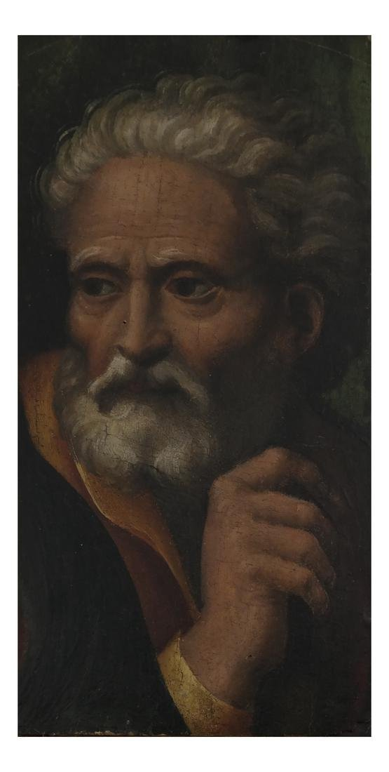 "Venetian School Old Master ""St. Joseph"" - Oil on Panel"