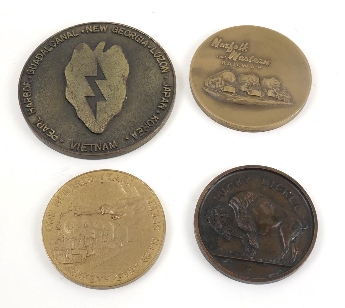 Group of Four Bronze Medals