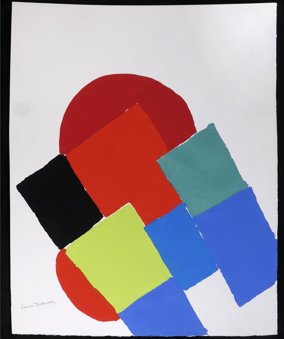 """Sonia Delaunay, Two Pochoirs From """"Les Illuminations"""""""