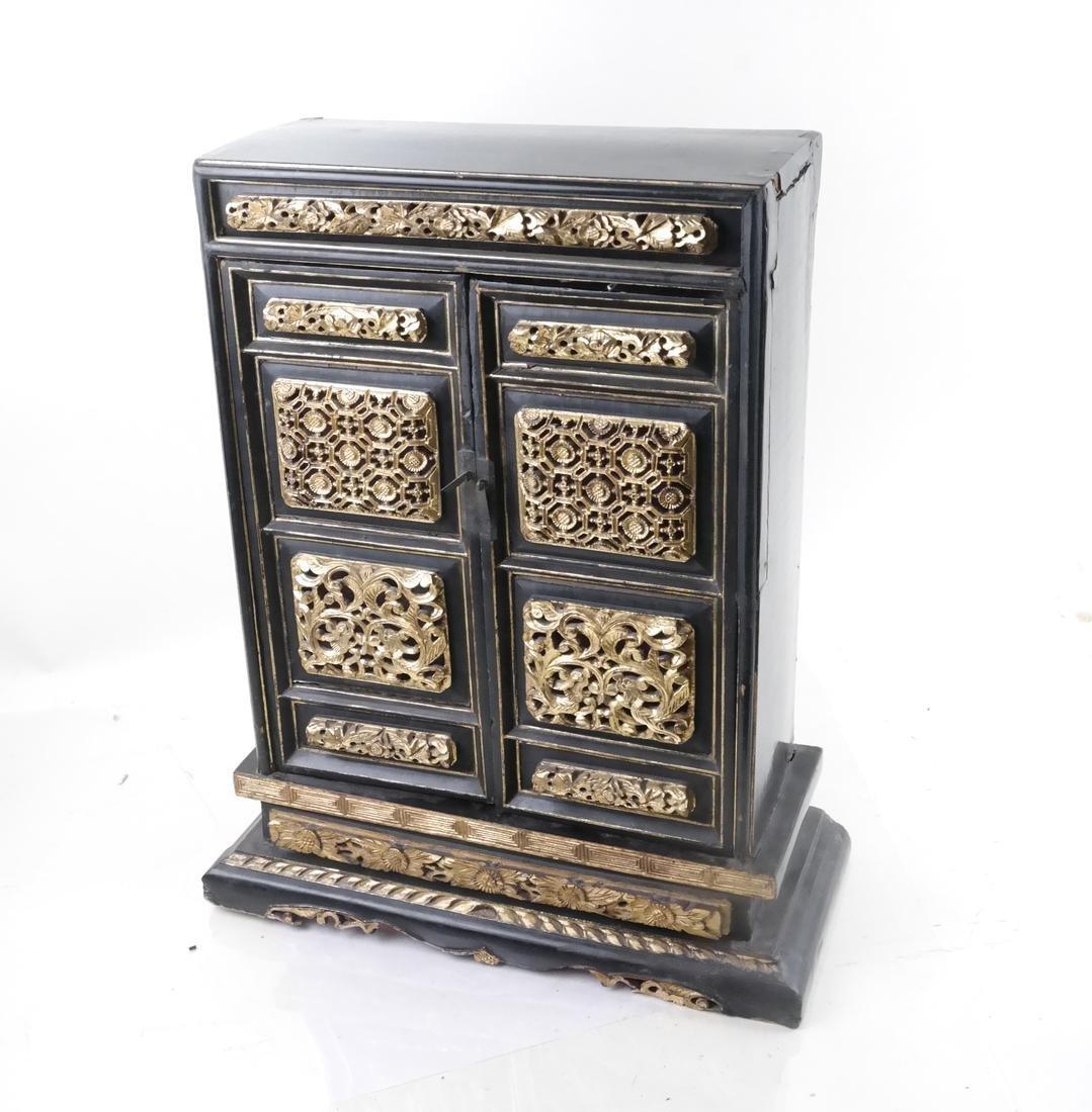 Ornate Asian Miniature Cabinet
