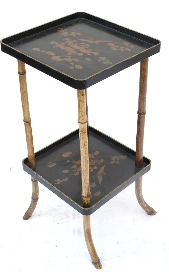Chinoiserie Two-Tier Stand
