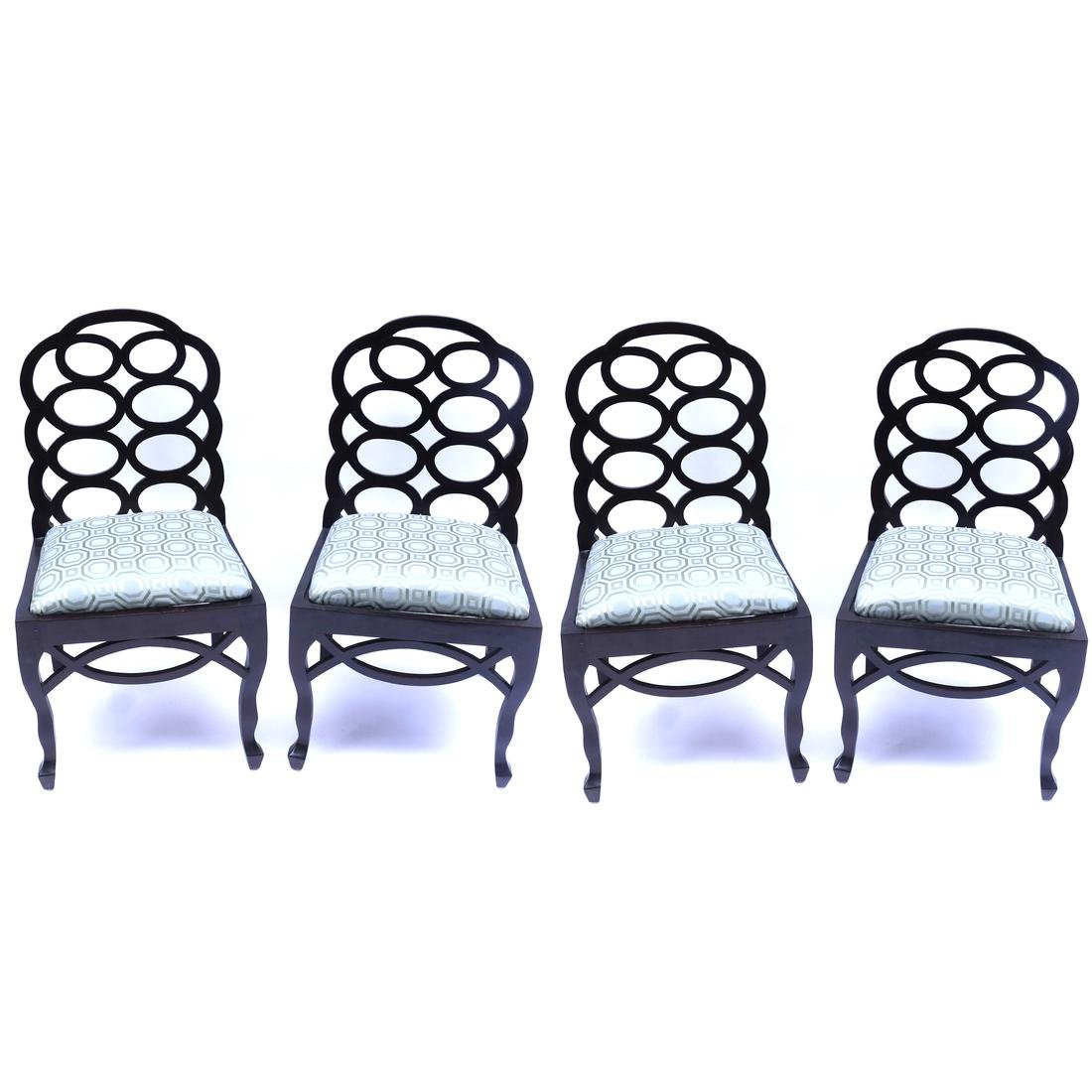 Set of 4 Loop Back-Style Side Chairs after Elkins
