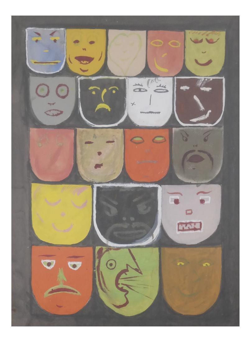 Multiple Faces Watercolor