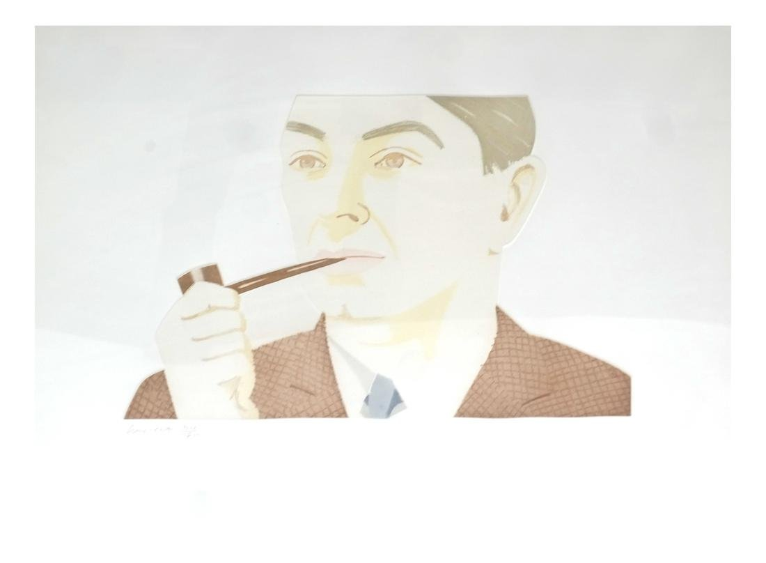 Alex Katz, Man With a Pipe, Aquatint