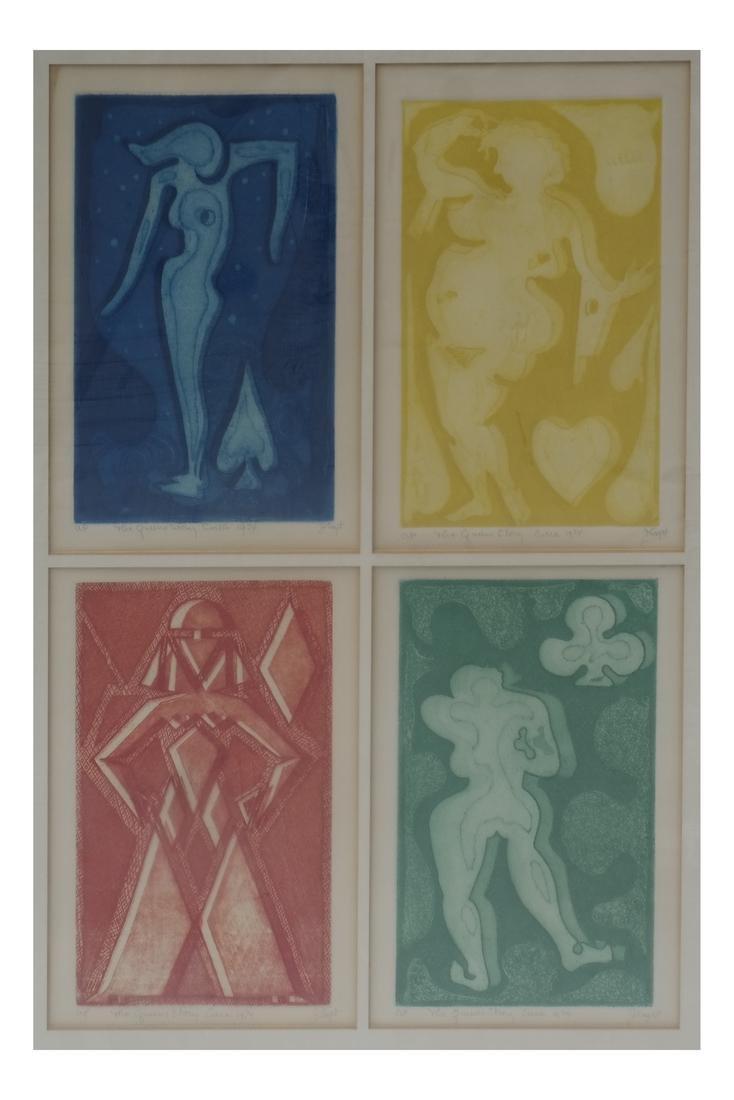 J Saght Four Figures, Artist's Proof