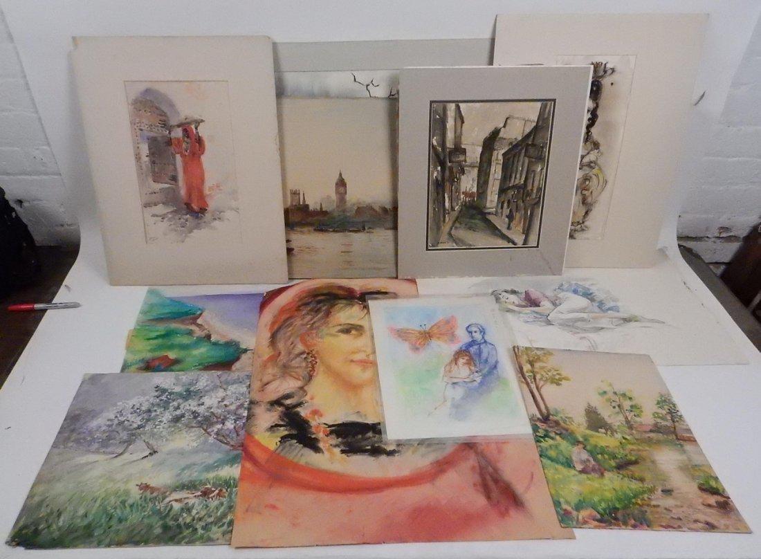 10 Original Watercolors