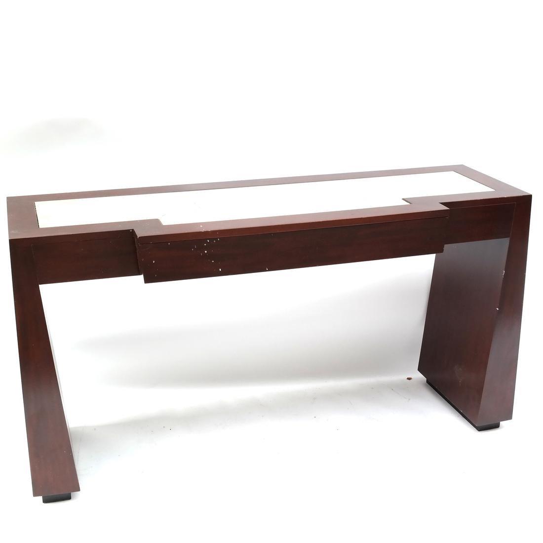 Contemporary Mahogany Console Table