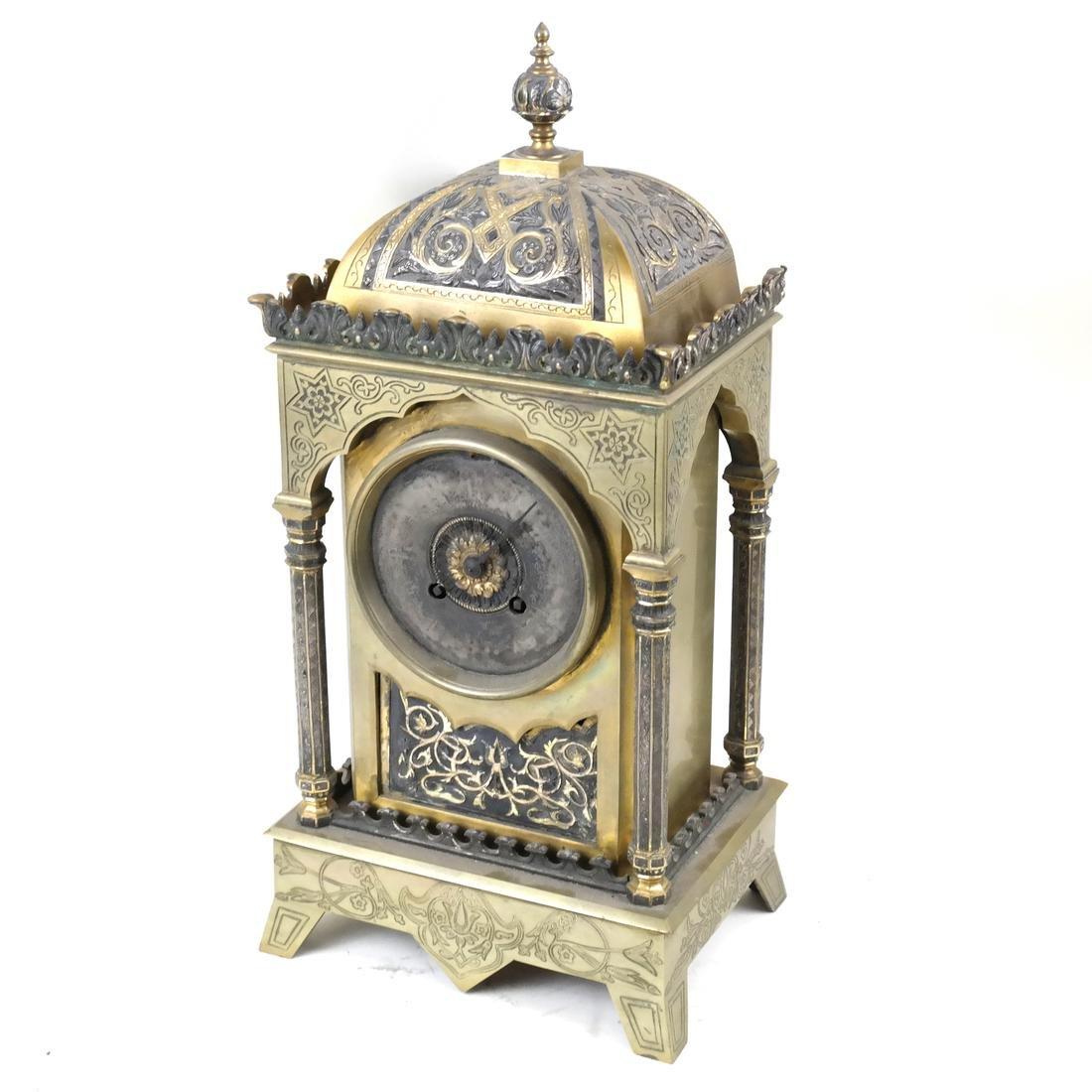 Moorish-Style Bronze Clock