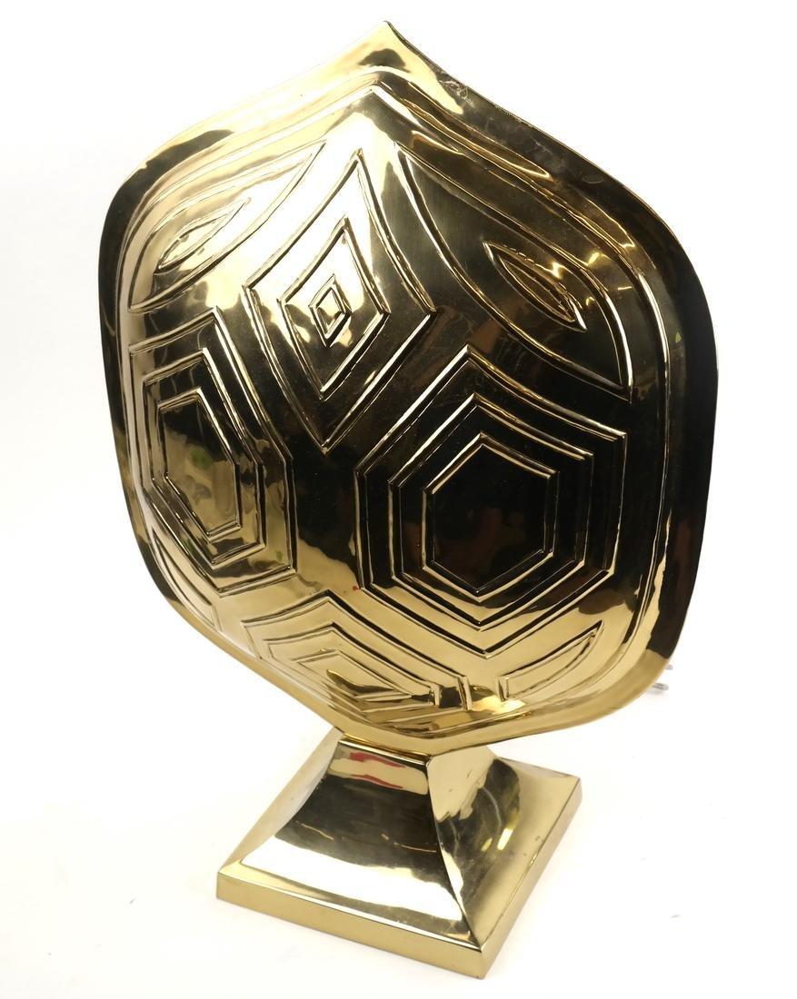 Brass Tortoiseshell-Form Lamp
