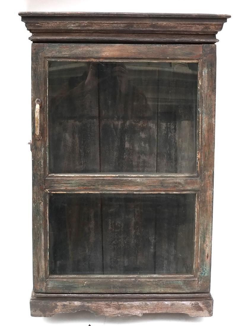 Rusticated Antique Hanging Cabinet