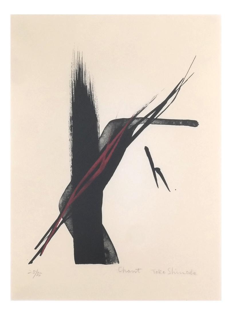 Toko Shinode 'Chant' Lithograph 25/35