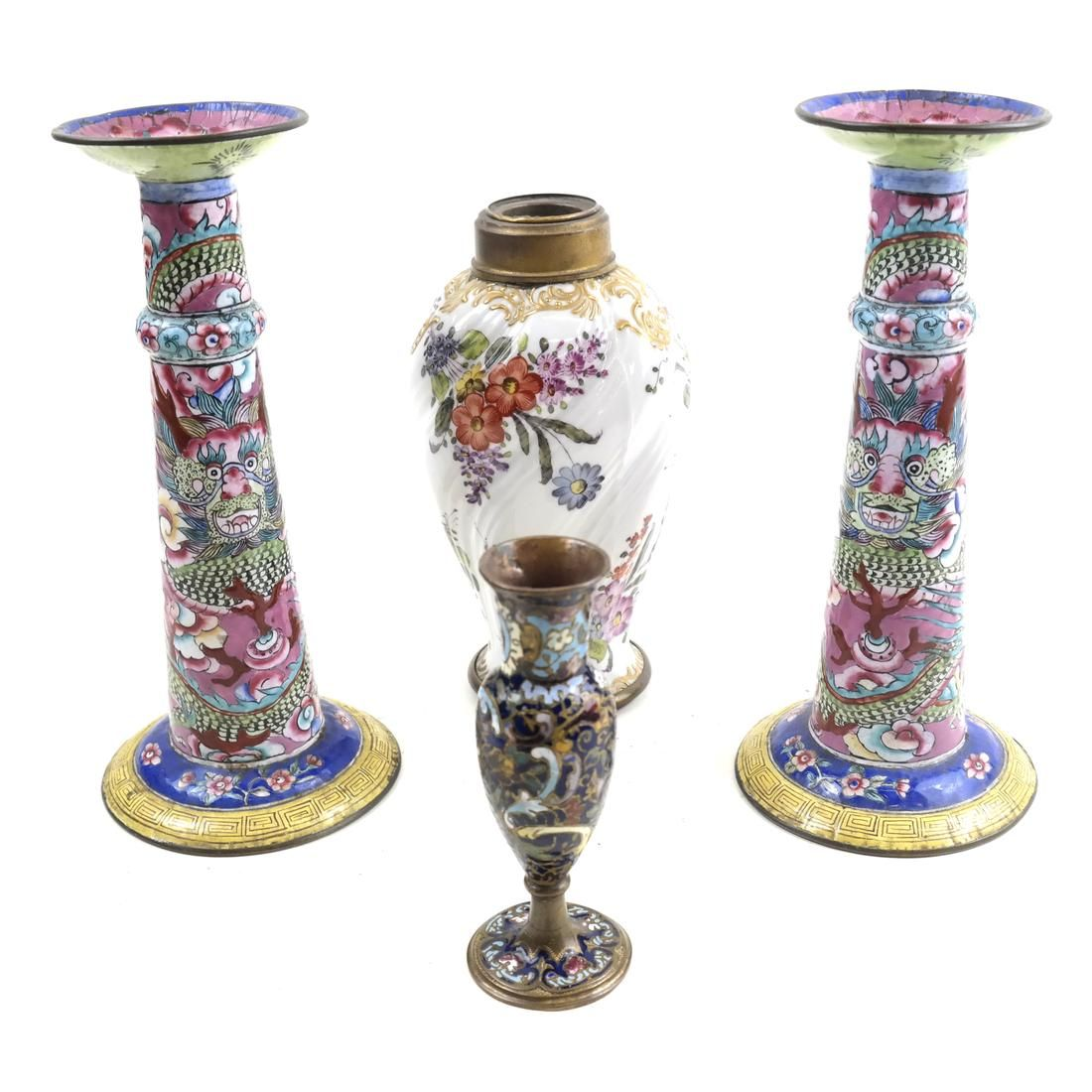Group of Four Asian Vases