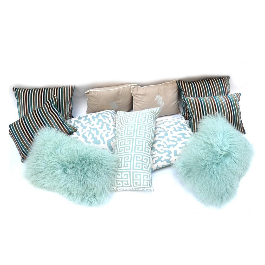 Ten Assorted Pillows
