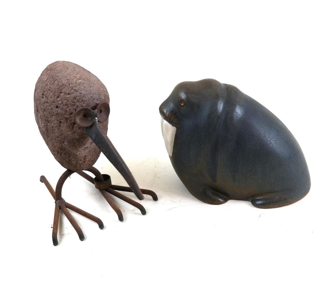 Two Animal Sculptures