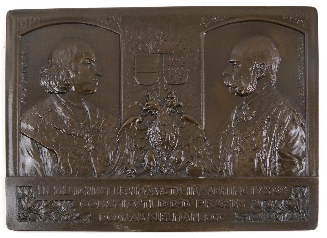 Bronze Plaque Austrian Empire