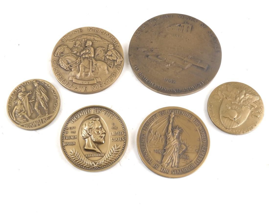 6 Commemorative Bronze Medals