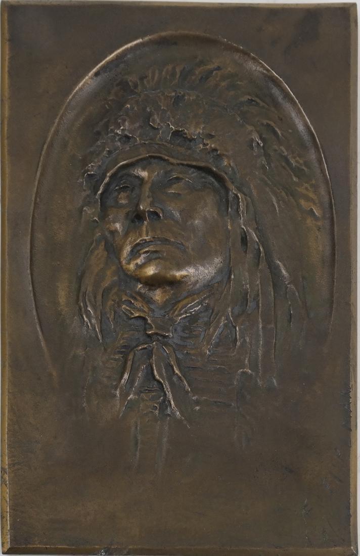 Edward Geiselman Bronze Plaque