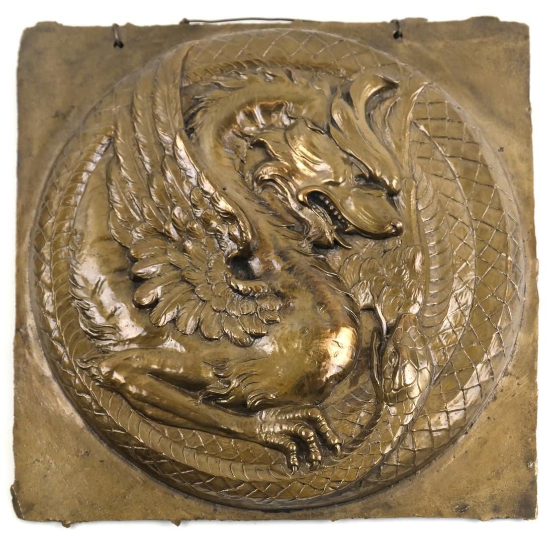 Mystical Creatures Bronze Plaque