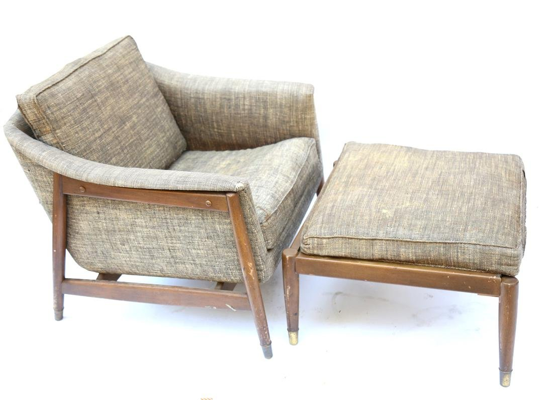 Vintage Modern Chair and Ottoman