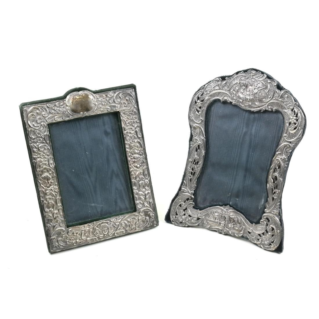 Two Silver Photo Frames