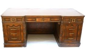 Vintage Oak Executive Desk