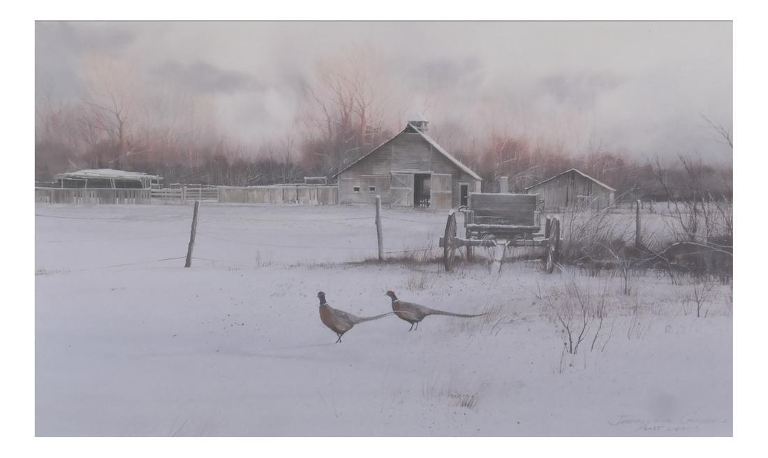 """Jeffrey H. Craven, """"Last Light"""" - Pheasants"""
