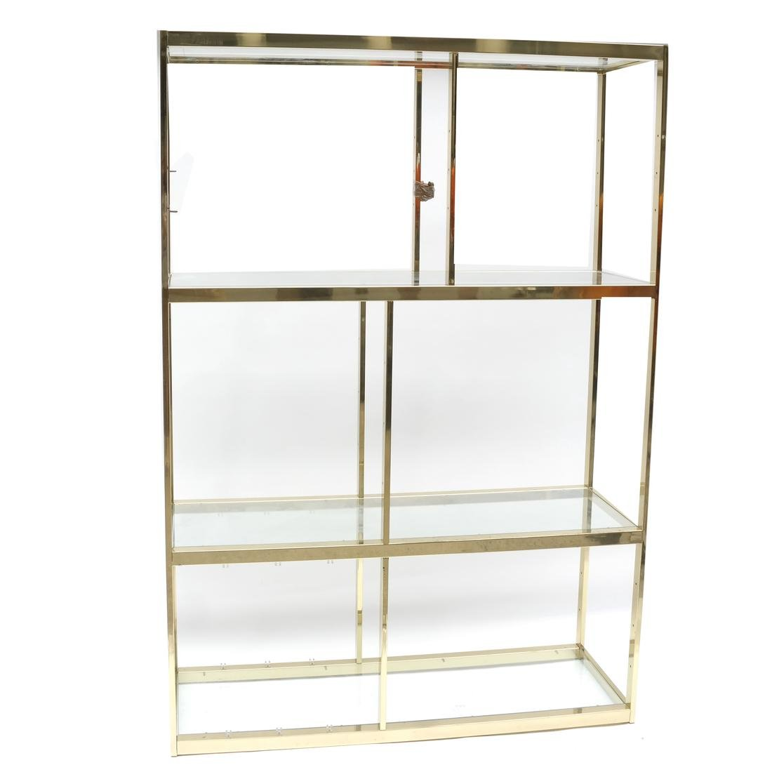 Modern Brass Etagere Wall Unit