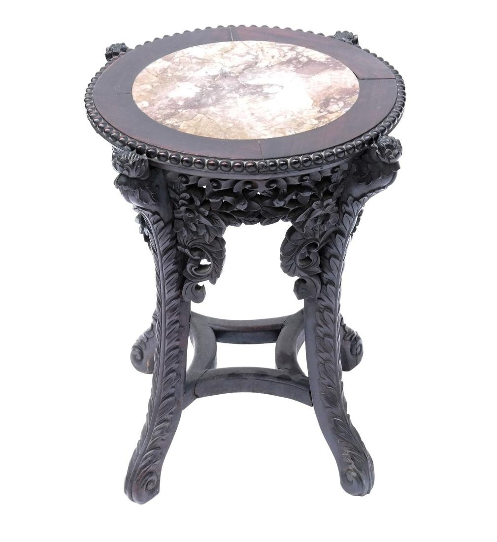 Chinese Marble Inset Taboret