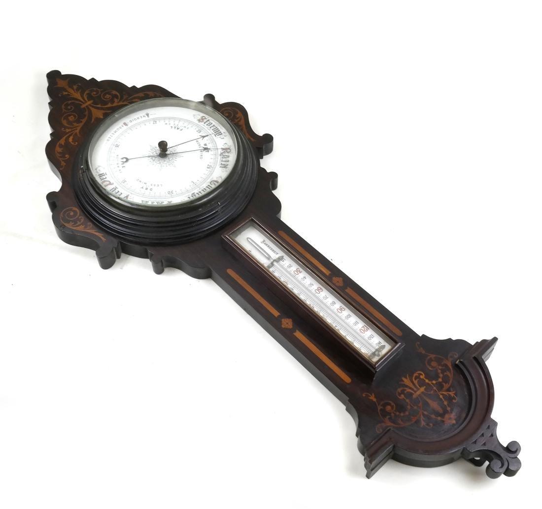Edwardian Inlaid Barometer