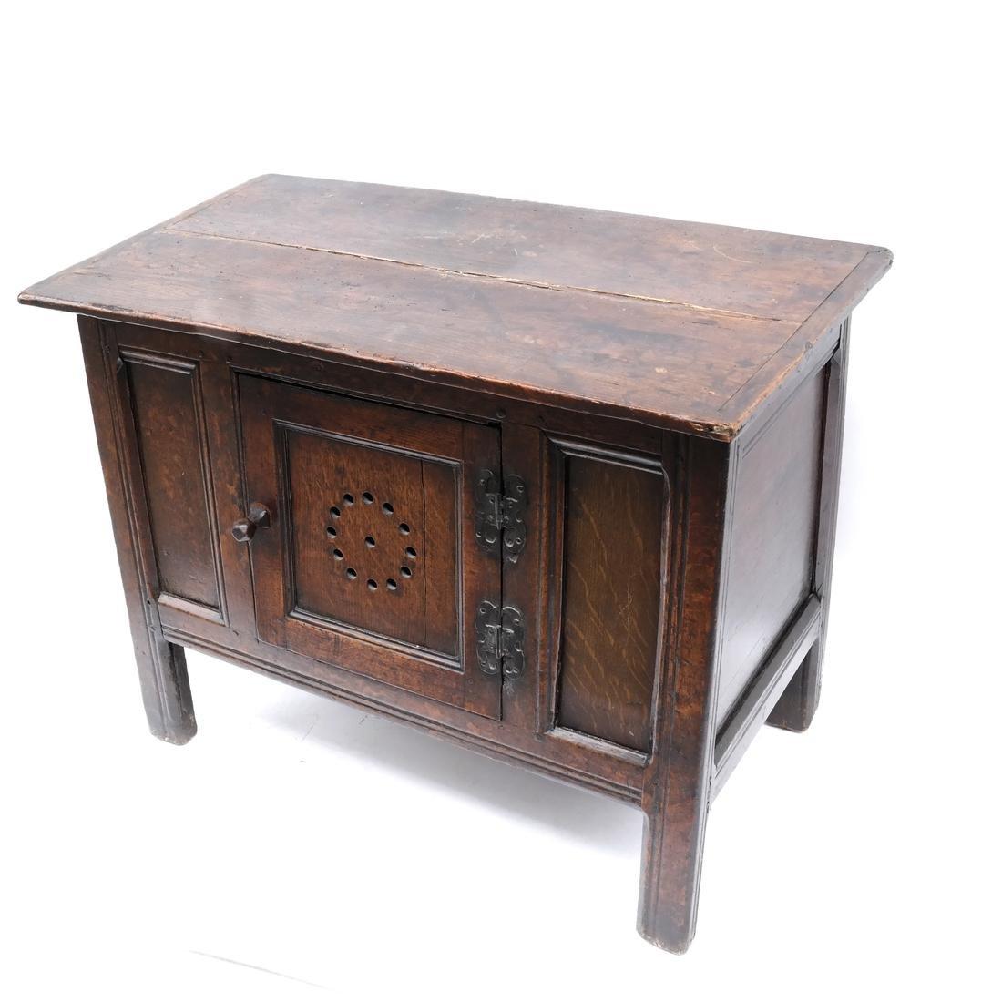 Antique Oak Low Cabinet