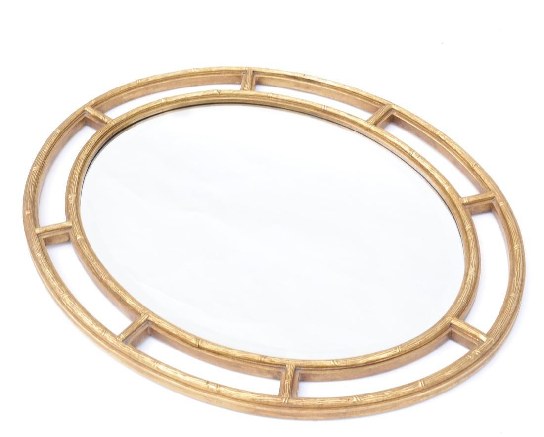 Oval Open-Work Gilt Wood Mirror