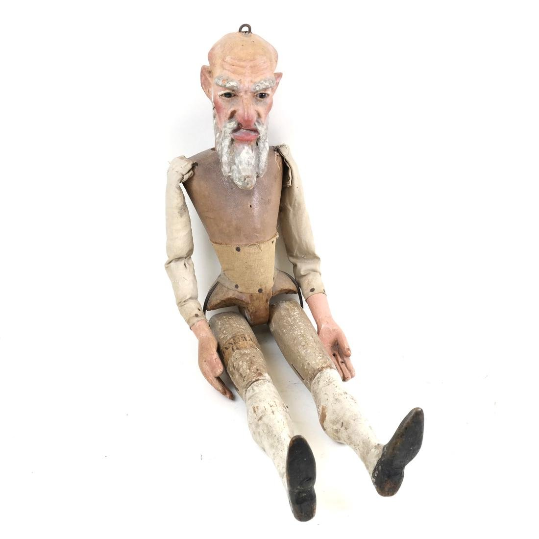 Antique Wood Hinged Puppet