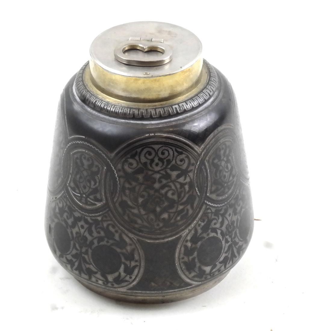 Russian Silver Tea Caddy, Tiffany & Co. Retailer